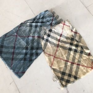 Authentic Burberry Ombré Silk Crinkled Scarf